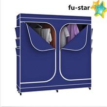 PN FUJIAN factory Portable Double Door Closet Storage Bedroom Space Clothes Organizer Wardrobe Bedroom Wardrobe Design
