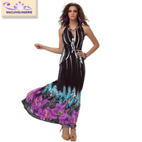 2015 China Supplier Women Long Maxi Floral Sundress Casual Dress for Beach Party Free Shipping