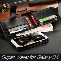 Hot fancy 8 site 5 inch cell phone for Samsung Galaxy S4 phone case with PU leather super wallet