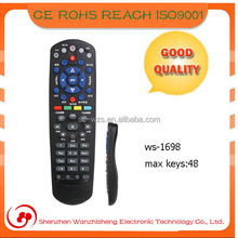 Shenzhen 15 years manufacture newest model with 48 keys tv universal remote control