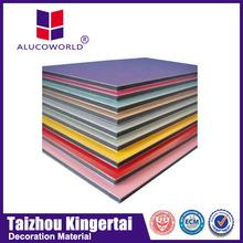 Alucoworld brushed finish acp Aluminum Composite Panel exterior cork aluminium supplies walls panels