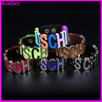 Unisex leather cuff bracelets supplies hand bands wide leather bracelet