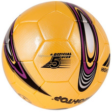 size 5 durable PU leather soccer ball with profession match quality /custom small quantity soccer ball