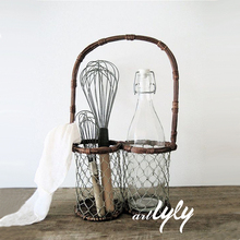 popular kitchen wire basket for oil bottle