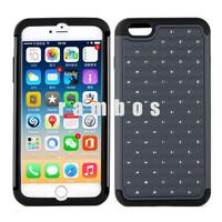 Mobile Phone Case Bling Stars Crystal Rhinestone Diamond Case Hybrid Cover for iPhone 6 4.7 & 6 Plus 5.5