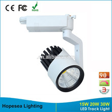 Hopesea 15w 20w 30w Epistar cob chip led stage track lighting with CE Rohs arrpoved