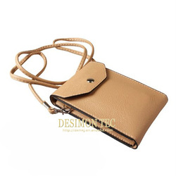 leather pouch for samsung galaxy core i8260 i8262 with shoulder/neck strap accessories LOGO custom