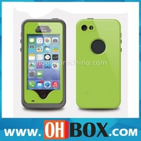 Genuine manufacturer for iphone 5/5s waterproof case green top quality