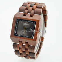 New style wooden quartz watches square bamboo watch 2015