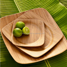 Smooth Surface Bacteria Resist Natural Wood/Bamboo Plates