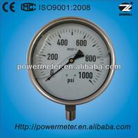 6' bottom type stainless steel vibration-proof pressure gauge