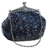 Fashion beaded purse metal chain bags woman shoulder bag with factory price