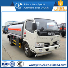 Dongfeng 5000 liters small capacity fuel tank truck for sale, used fuel tanker truck price