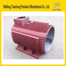 China coated sand casting OEM DC motor housing best choice supplier with iso 9001-2008