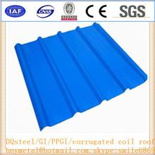 Blue Color Corrugated Steel Roof Tiles Pre-Painted Galvanized Corrugated Steel Roof
