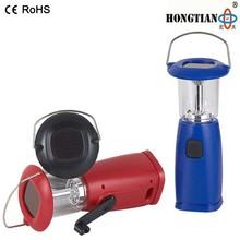 led emergency rechargeable dynamo solar camping lantern