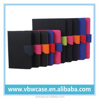 good quality leather tablet case, flip leather cover cases for android tablet with stand
