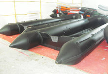 8 meters inflatable long boat ALUMINUM floor salvage pontoon boat for sale