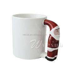 Vesub Sublimation white coated Blank Mugs fashion bone china