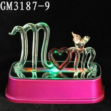 Led glass craft for mothers day decoration
