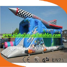 High Quality inflatable bouncer water slide, inflatable wet/dry slides