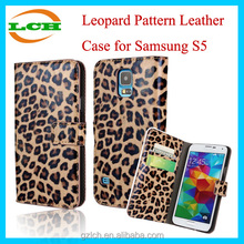 Sexy Leopard Pattern Unbreakable Leather Case for Samsung Galaxy S5 i9600