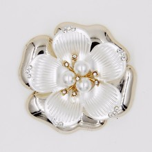 2015 china supplier rhinestone 59mm acrylic pearl flower accessories for hair P02850