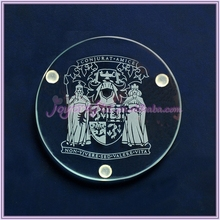 Wedding Favors Return Gift King and Qeen Design Glass Coaster