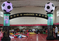 Sports event!!!6m(W)*4m(H) advertising inflatable arch with footble ball W1023