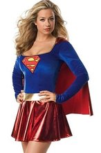 Sexy Hero Costume Uniform Supergirl Super Girl