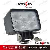 Factory price! Hotselling 50W square led work lamp, 50w led driving lights, 50w led 12v 24v led truck light