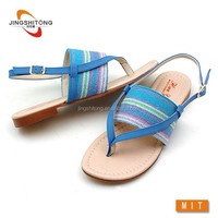 Best fashion flat summer shoe nude sandals 2015 shoes for women