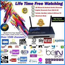 HD iptv English channels Arabic IP Tv Box:Arabic indian live streaming and build own server by HVAXIN