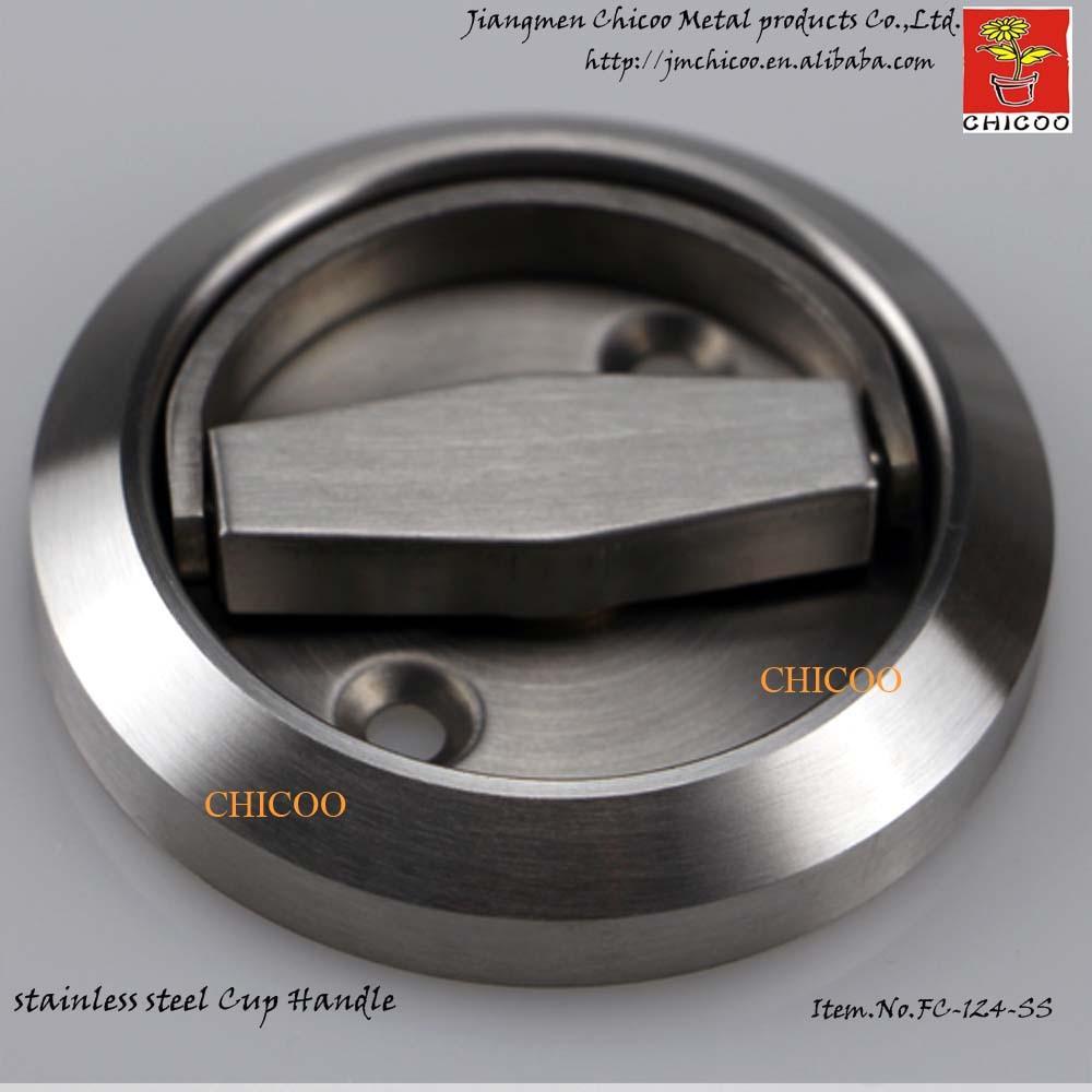 En acier inoxydable 304 poignée invisible coupe encastré poignée tasse poignée anneau