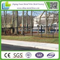 Dupont powder coated Flat top wrought iron fence agency