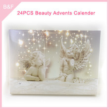 Chrismas cosmetics makeup set Adventage Angel promotional calendar for gift crystal cosmetics brush