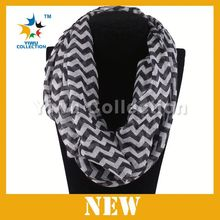 Custom design top quality poncho multi-color chevron infinity scarf
