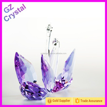 Purple Crystal Swan For Wedding Souvenirs Gifts Wedding Favors GZ-G-019