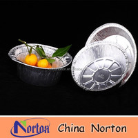 fruit containers for sale, round aluminum foil container with lid NTP- ALF254B