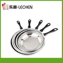 3pcs/4pcs Stainless Steel Frying Pan Africa Frier Metal Frying Pan Factory Wholesale Flast Pan