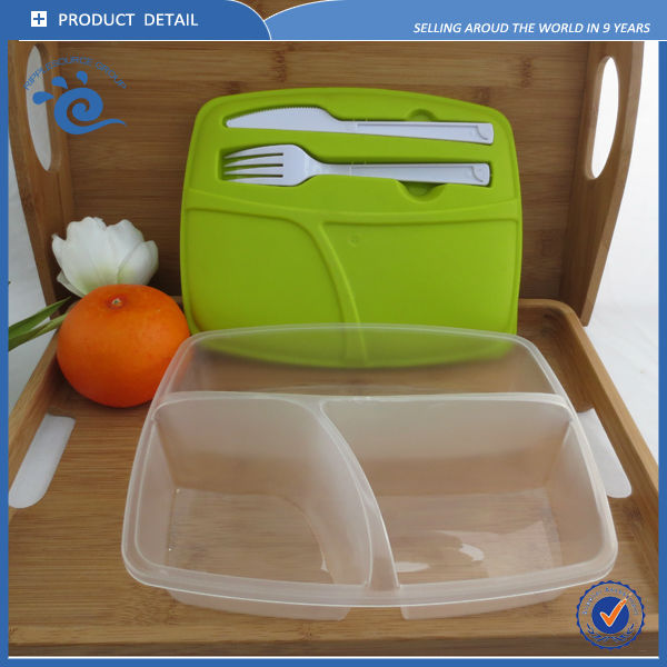 wholesale 3 compartment bento lunch box with cutlery set buy lunch box with. Black Bedroom Furniture Sets. Home Design Ideas