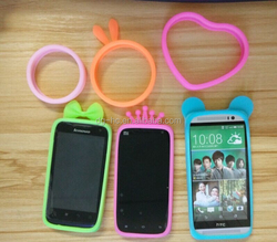 Hot Sale All Design Elastic Silicone Wrist Ring Case For iPhone 5S 5 Ring Silicone Bumper Case