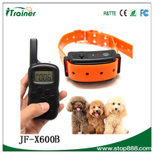 JF-X600B remote dog training collar,waterproof & rechargeable dog agility product
