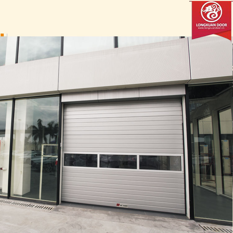 Custom insulated glass garage door commerical aluminium alloy sliding
