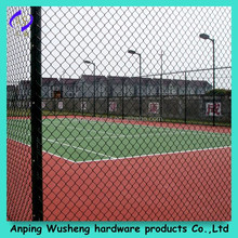 PVC coated decorative chain link fence for green field protect/Professional factory supply galvanized garden chain link fence
