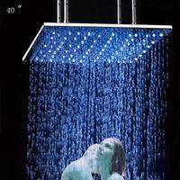 Ceiling shower,1000*1000mm square biggest top rain shower head led