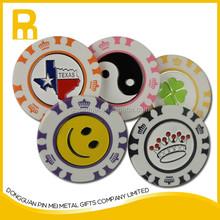 2015 bulk wholesale poker chip golf ball makrers / cheap poker chip