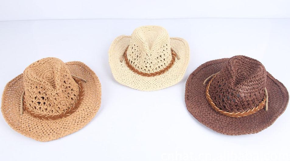 Ganchillo infantil para niños sombrero de vaquero patrón straw ...