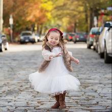 Venta al por mayor del cabrito niñas princesa bebé de moda vestido Pictures