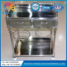 G-11 multi-functional Stainles Steel Medication for Emergency Trolley with drawer